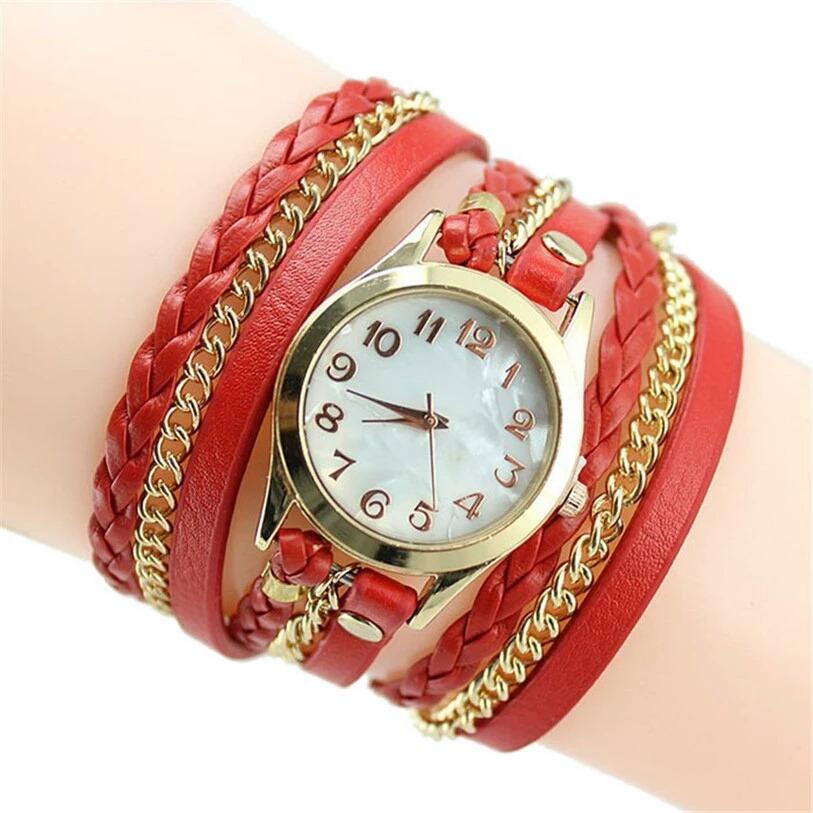089d26aa3c3 relogio feminino elegante couro bracelete pulseira pulso. Carregando zoom.