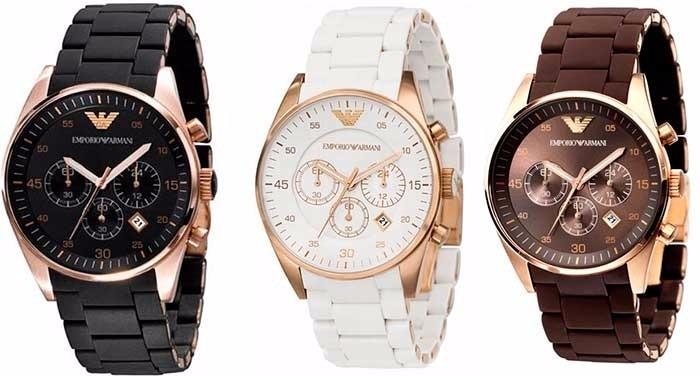 Relógio Feminino Emporio Armani Ar5919 Branco rose Completo - R  412,90 em  Mercado Livre 0f9af222d4