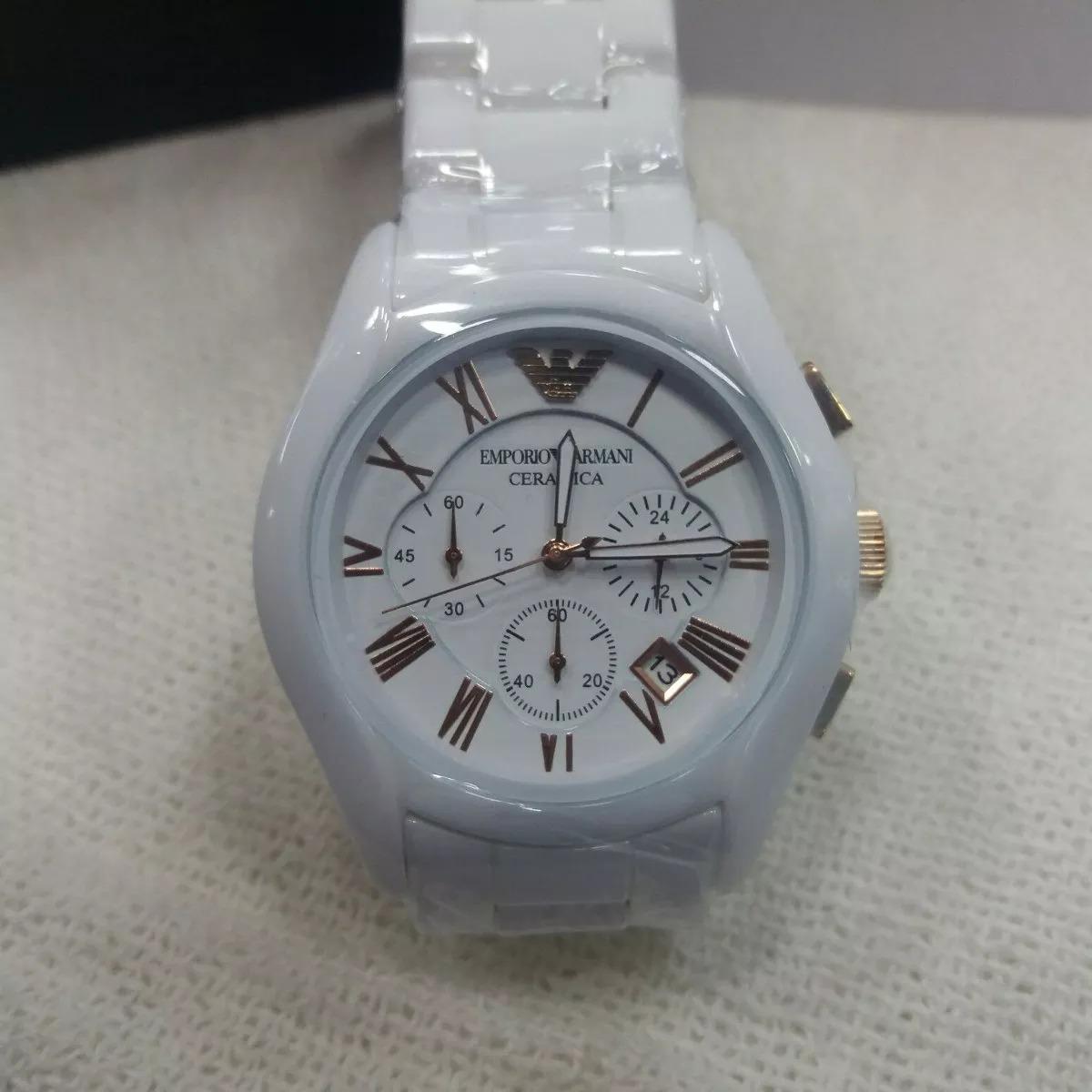 a39088ce3f8 relógio feminino emporio armani ceramica branco. Carregando zoom.
