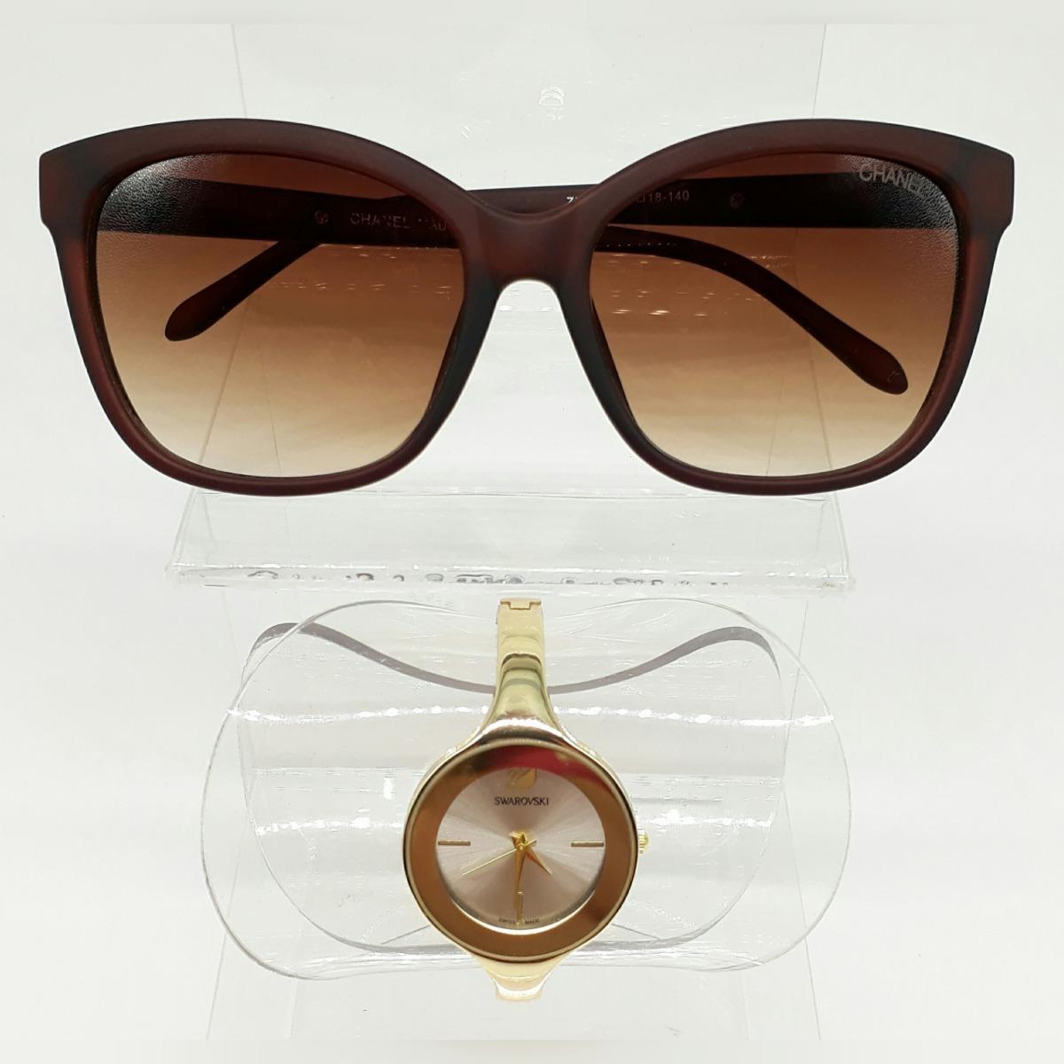 f867aa598511e relógio feminino esporte fino + óculos de sol ch classico. Carregando zoom.