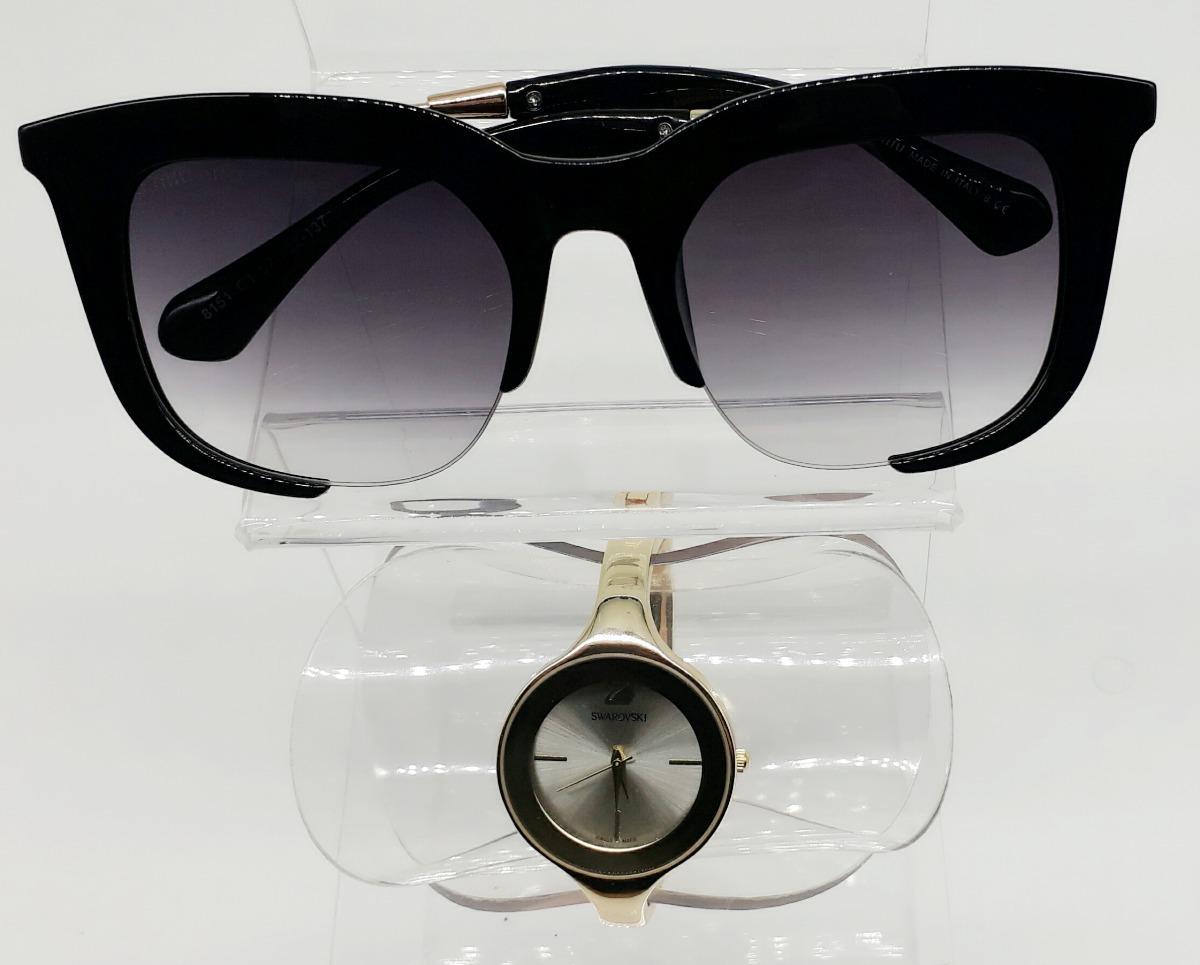 Relógio Feminino Esporte Fino + Óculos De Sol Classico Rasoi - R  74 ... 0a46cb0ede