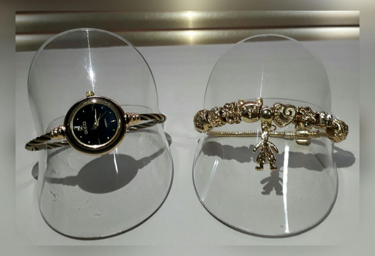 98571c6ceb9 relógio feminino esporte fino + pulseira estilo pandora. Carregando zoom.
