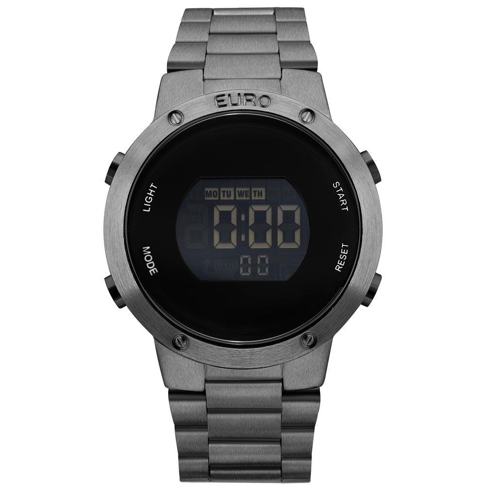 395fdd2ce1b Relógio Feminino Euro Digital Eubj3279ae 4k 42mm Grafite - R  209