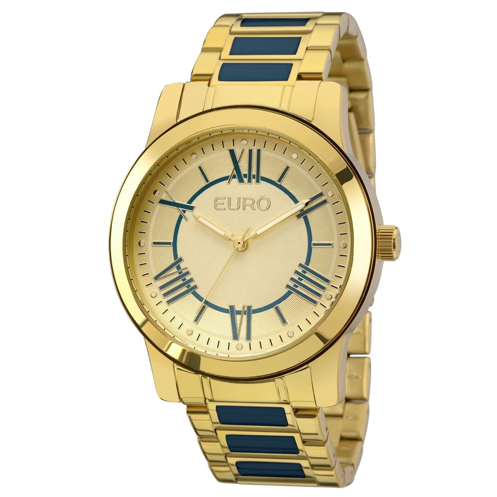 77547c69f29 Relógio Feminino Analógico Euro Fashion Eu2035yei 5a Dourado - R ...