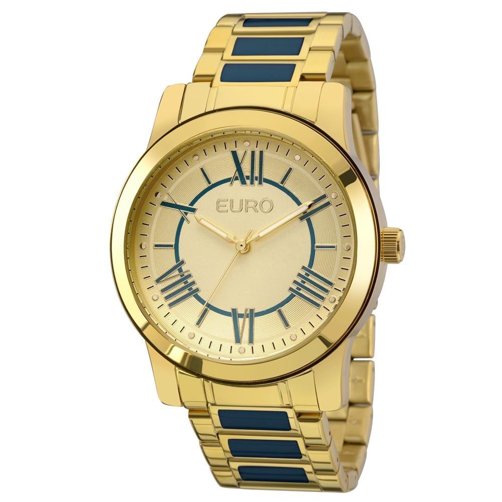 e55d23f7876 Relógio Feminino Analógico Euro Fashion Eu2035yei 5a Dourado - R ...