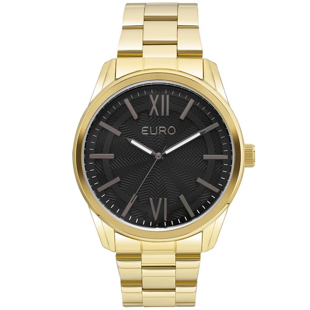 0c0390f0d7397 Relógio Feminino Euro Eu2036lyb 4f 44mm Pulseira Aço Dourado - R ...