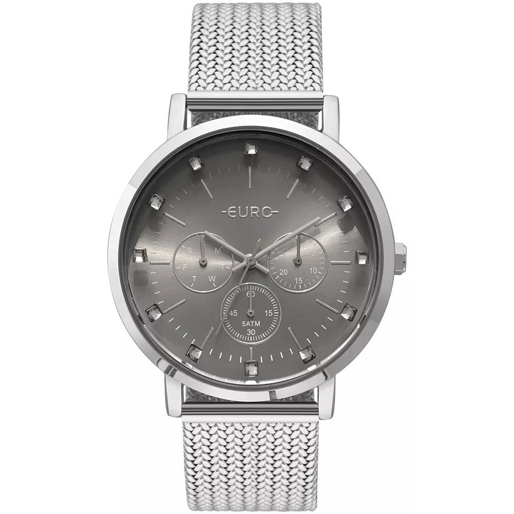 411147d3abe2b Relógio Feminino Euro Euvd75ab 3k 42mm Aço Prata - R  284