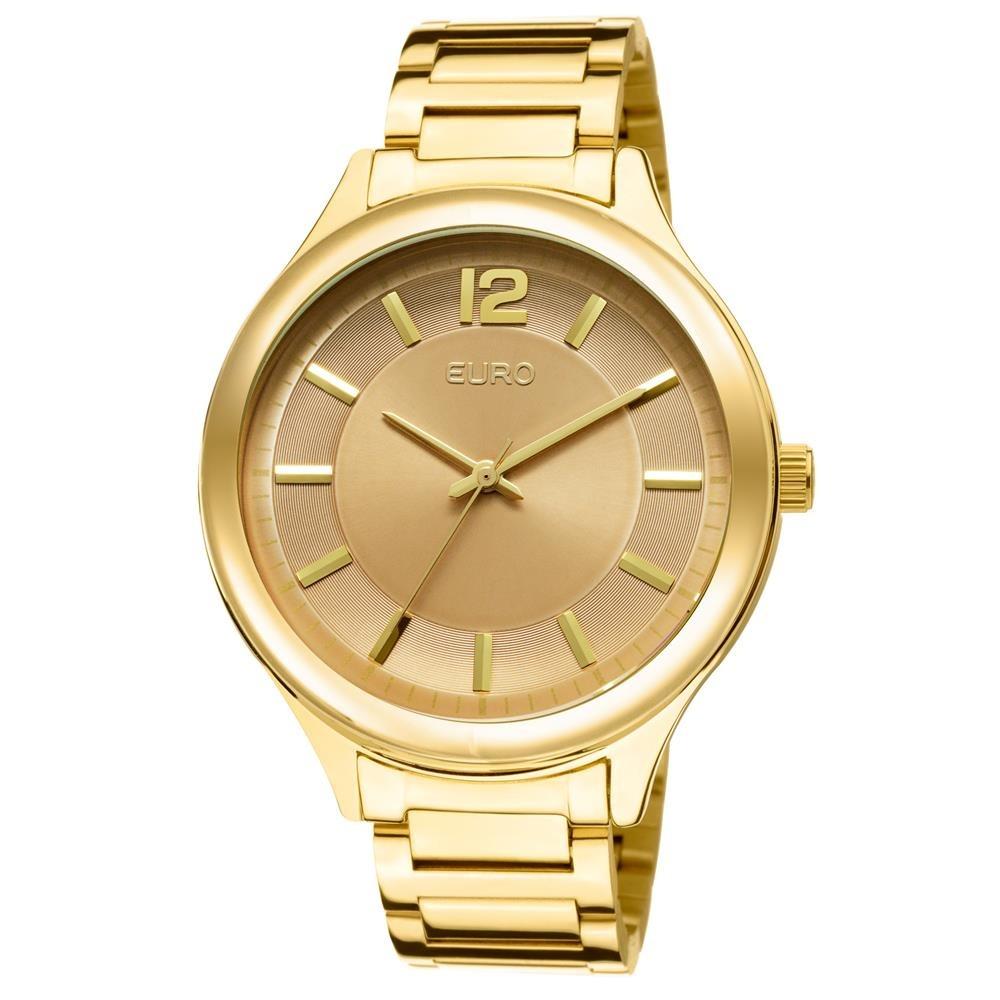26c47e98731 Relógio Feminino Analógico Euro Eu2035lqy 4m - Dourado - R  205
