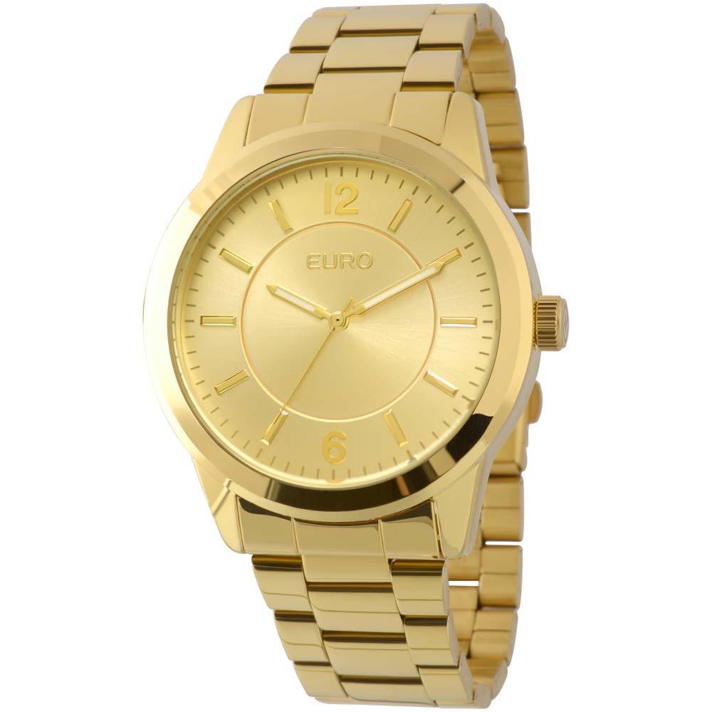 934cefbce26 Relógio Feminino Analógico Euro Eu2036lzd 4d - Dourado - R  198