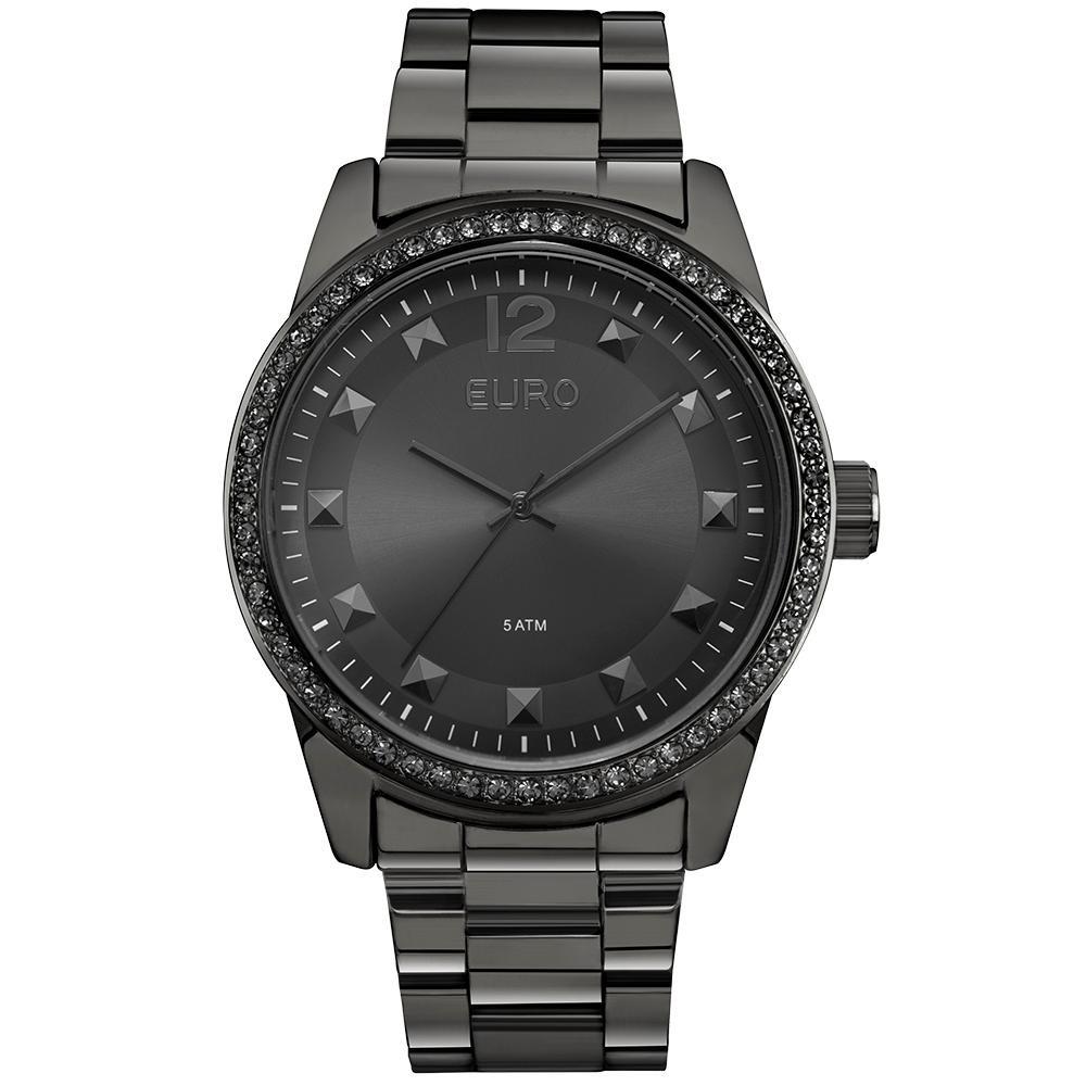 71f6c5333e8 Relógio Feminino Euro Eu2035ylc 4k Pulseira Aço Preta - R  289