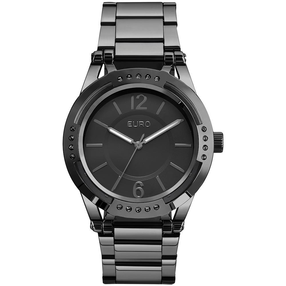 1a3071cfafc Relógio Feminino Euro Eu2035yms 4c 42mm Aço Preto - R  246
