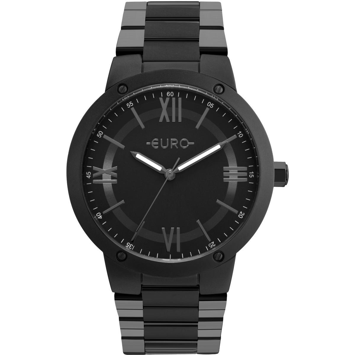 3e88ec08e11 Relógio Feminino Euro Eu2035ymv 4p Pulseira Aço Preta - R  326