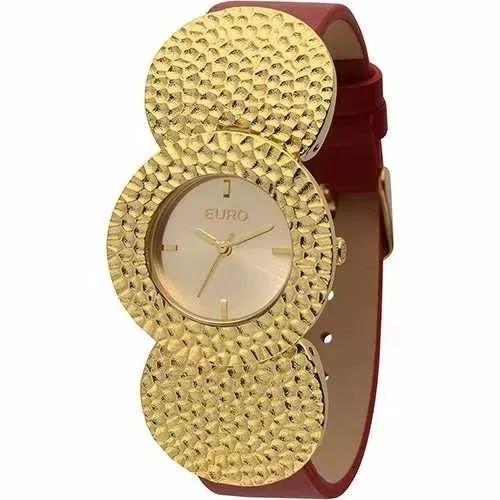 72cacd59a9f Relógio Feminino Euro Analógico Fashion Eu2035lrz 2r - R  120