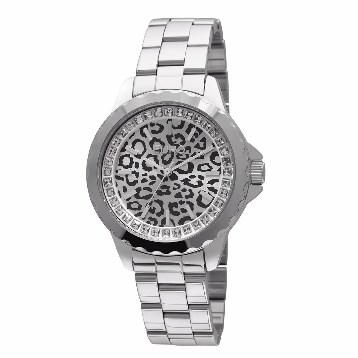 fcf90e20e16 relógio feminino euro analógico fashion - oncinha - eu2035yb. Carregando  zoom.