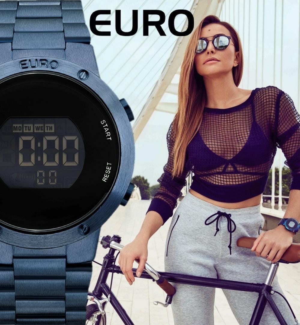 0d6db95764a relogio feminino euro azul digital eubj3279ac 4a original. Carregando zoom.
