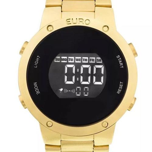 relogio feminino euro digital dourado eubj3279aa/4d