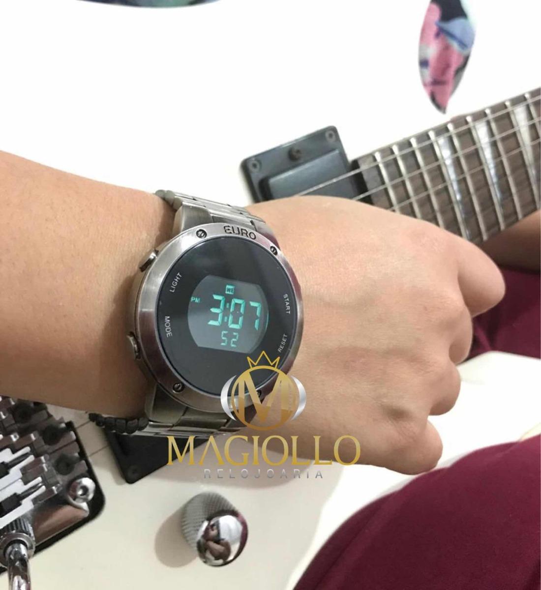 84396b83e30 relógio feminino euro digital grafite fosco eubj3279ae 4k. Carregando zoom.