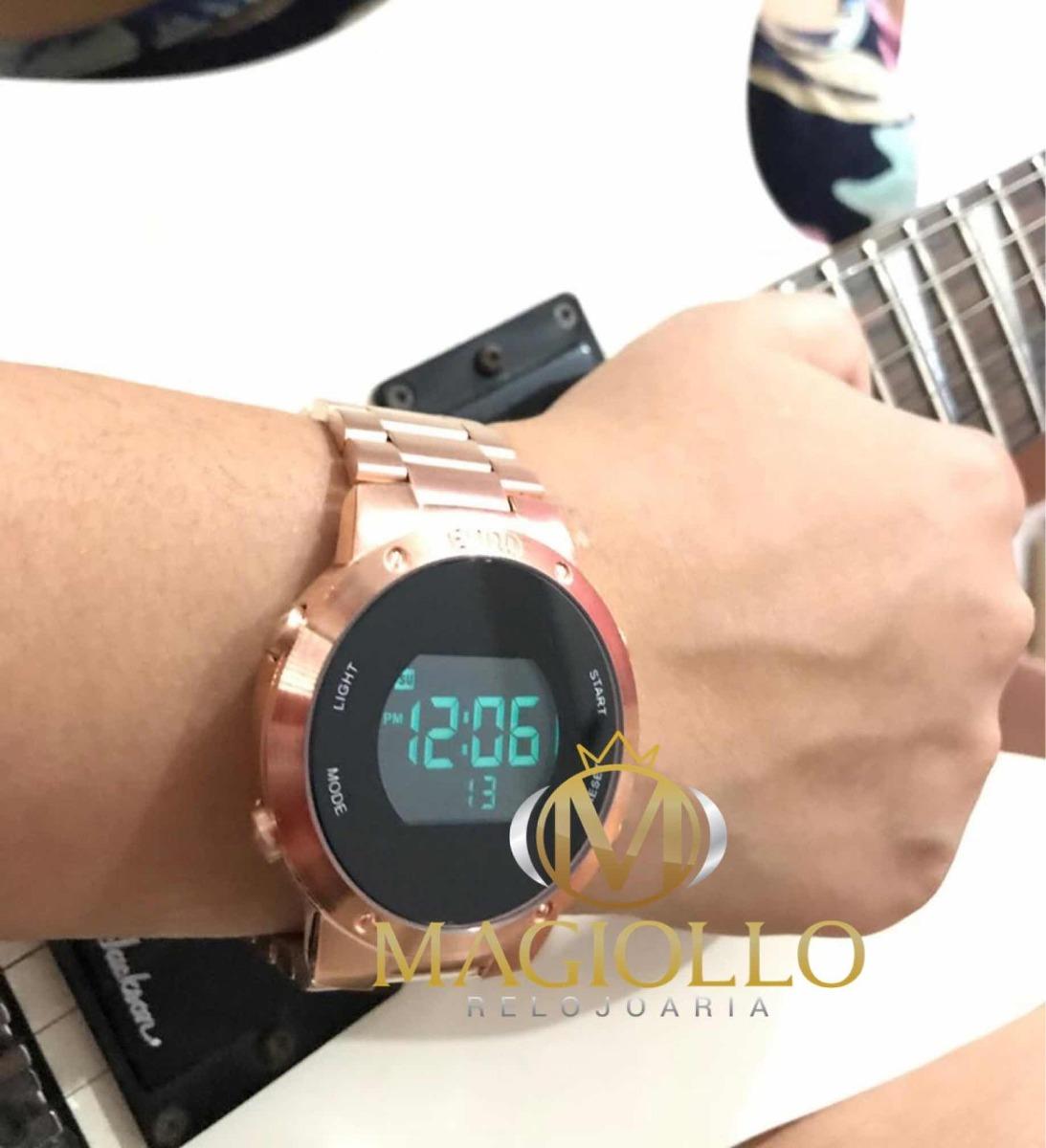 969232918c1 relógio feminino euro digital rose gold - eubj3279af 4j. Carregando zoom.