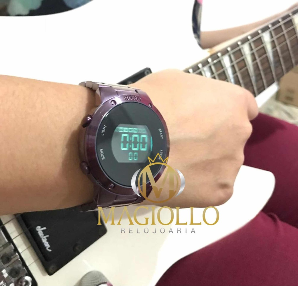relógio feminino euro digital roxo eubj3279ad 4t sabrina. Carregando zoom. c74986ff9e