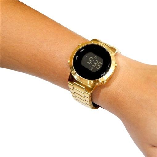 89eacffe243 Relógio Feminino Euro Dourado Digital Fashion Sabrina Sato - R  329 ...