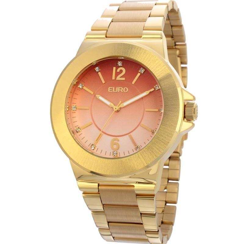 c9190a1eecc relógio feminino euro dourado eu2035lxv 4m. Carregando zoom.