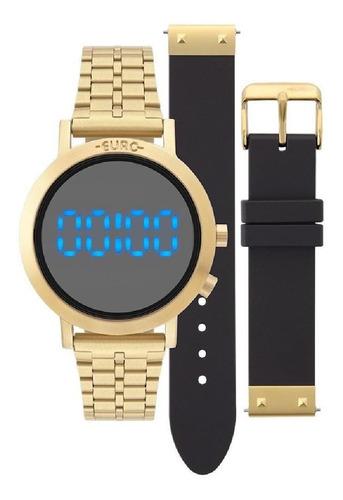 relógio feminino euro eubj3407aa/t4p 38mm aço dourado