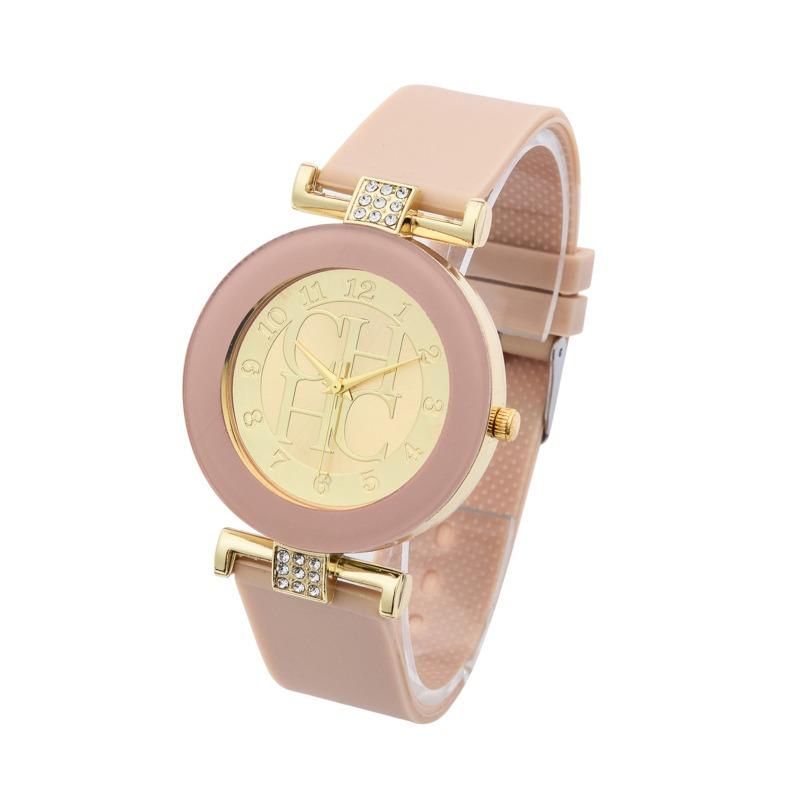ce4ea169b8d Relogio Feminino Fashion Brand Gold Casual Luxo Nude   Bege - R  29 ...