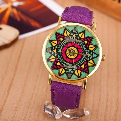 relógio feminino fashion couro importado pronta entrega