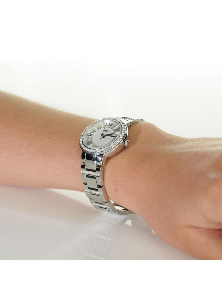 c4b482c0992 relógio feminino fossil es3282 prata strass novo original · relógio  feminino fossil. Carregando zoom.