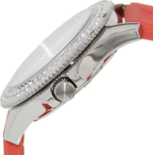 relógio feminino fossil am4464 vermelho strass novo original