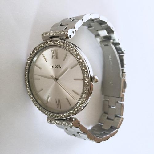 relógio feminino fossil c/ brilhantes es4539 analógico orig.