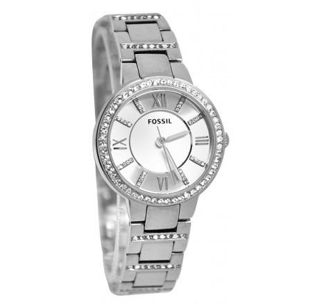 e53612f3911 Relógio Feminino Fossil Es3282 Prata Strass Novo Original - R  598 ...