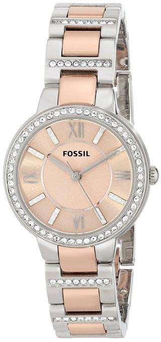 d55096af8cebf Relógio Feminino Fossil Es3405 Rose Prata Novo Original - R  689 ...