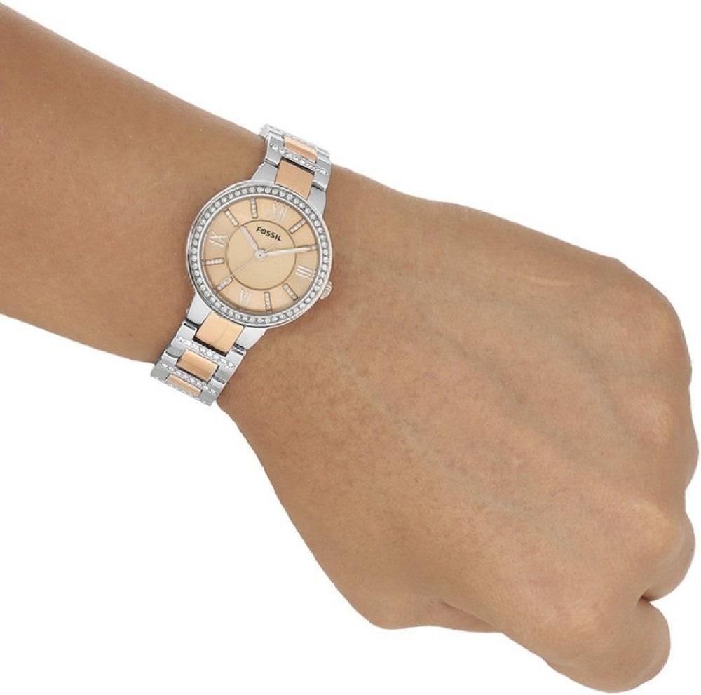 82fbcd5e9c243 relógio feminino fossil es3405 rose prata novo original. Carregando zoom.
