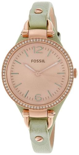 relógio feminino fossil es3467 georgia novo original