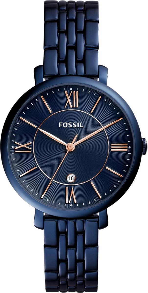 e659d45afe8 relógio feminino fossil jacqueline es4094 azul marinho. Carregando zoom.