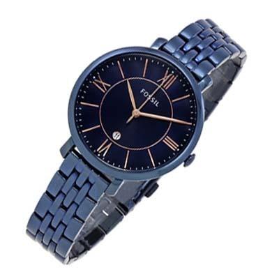 5428fc7de3b Relógio Feminino Fossil Jacqueline Es4094 Azul Marinho - R  889