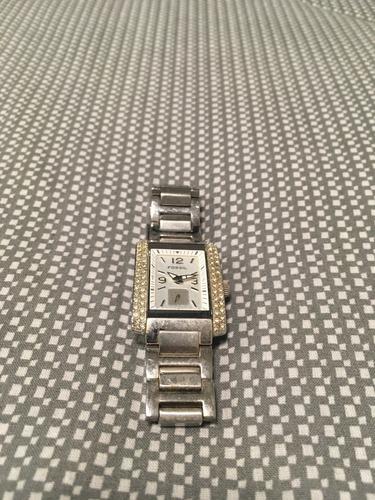 relógio feminino fossil retangular com brilhantes