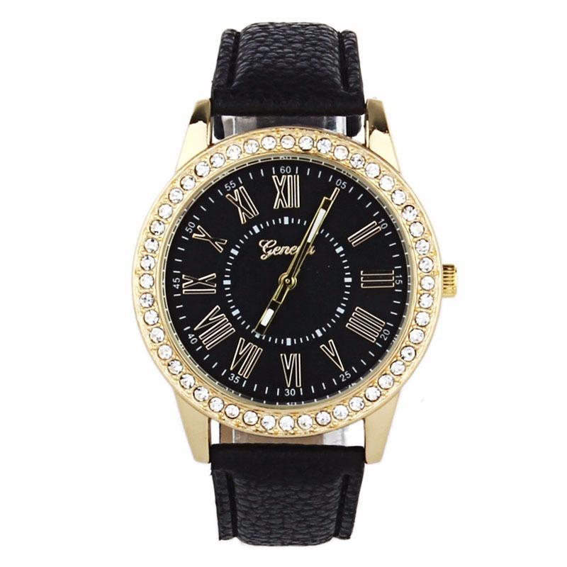 28d13005f15 relógio feminino geneva luxo quartz couro pronta entrega. Carregando zoom.