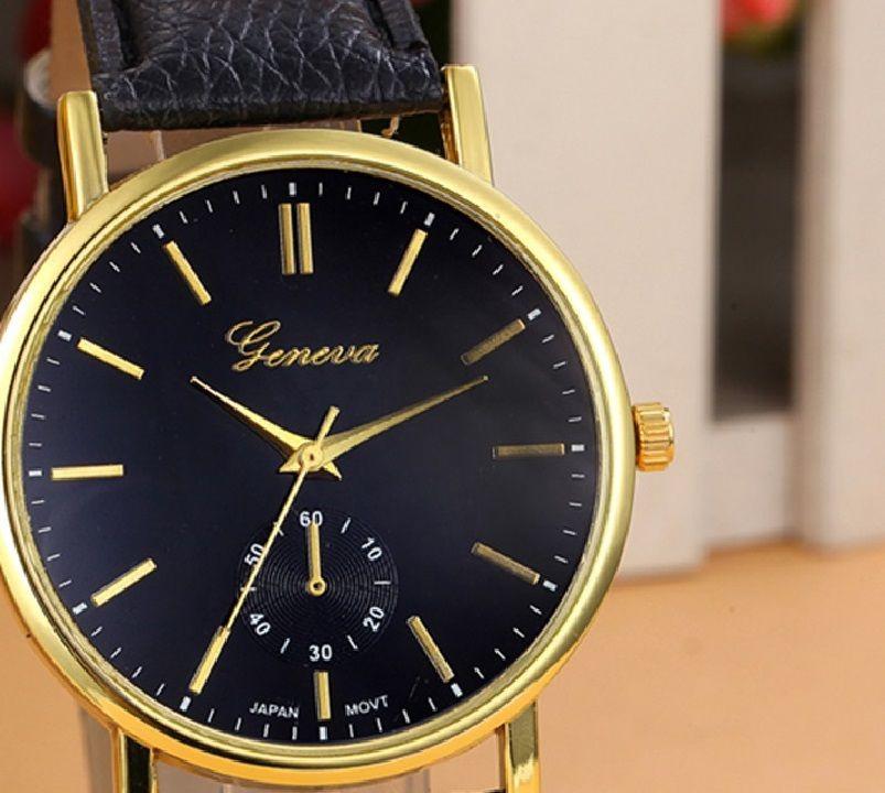c05f8e24719 relógio feminino geneva original importado pulseira de couro. Carregando  zoom.