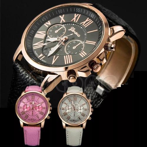 0d87910569e Relógio Feminino Geneva Pulseira Em Couro Menor Preço - R  24