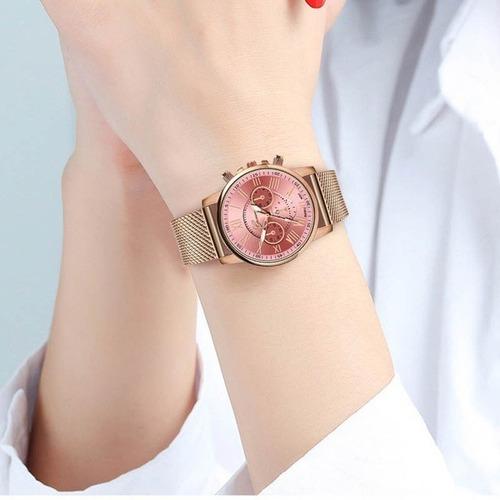 relógio feminino geneva quartzo frete grátis