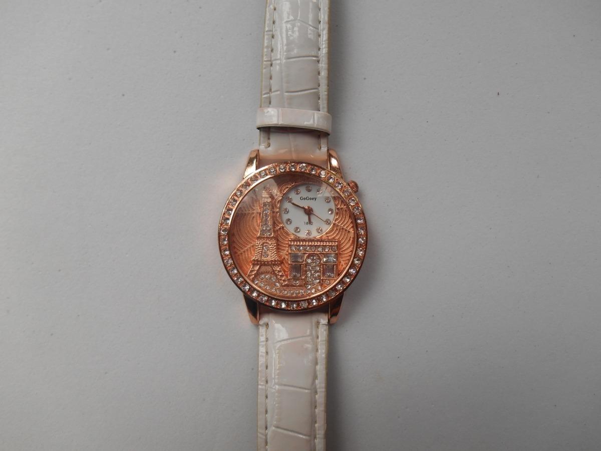c9b1f57ddc6 relógio feminino gogoey paris torre eiffel de couro. Carregando zoom.