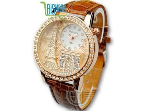 4394c601a44 Relógio Feminino Gogoey Torre Eiffel Paris Frete Grátis - R  52