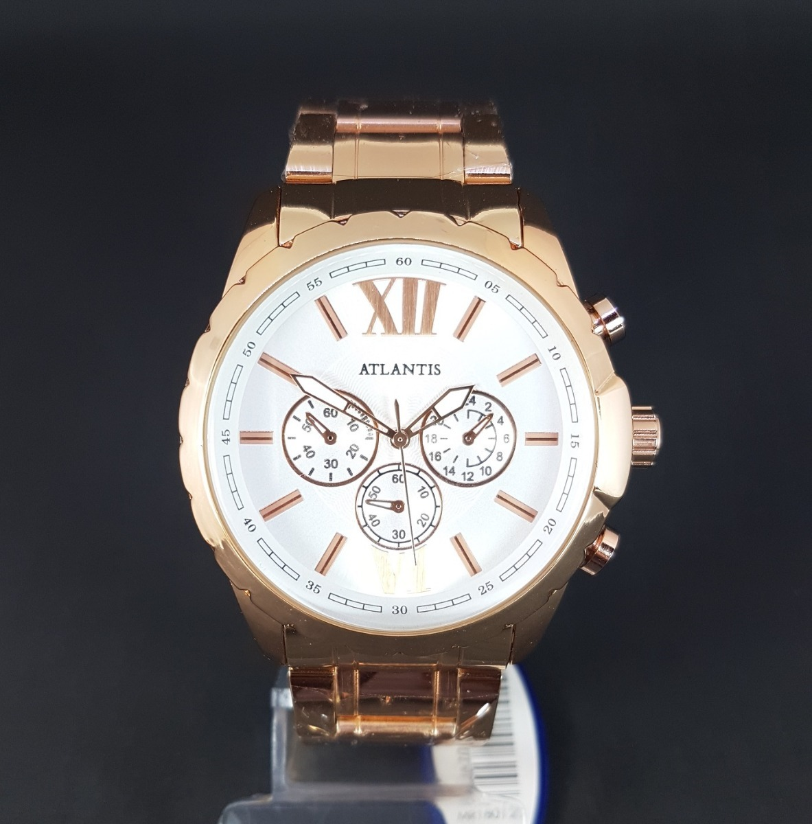 cd8b81133da relógio feminino grande barato dourado original atlantis. Carregando zoom.