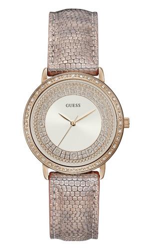 relógio feminino guess 92288lpgdrc8 couro nude