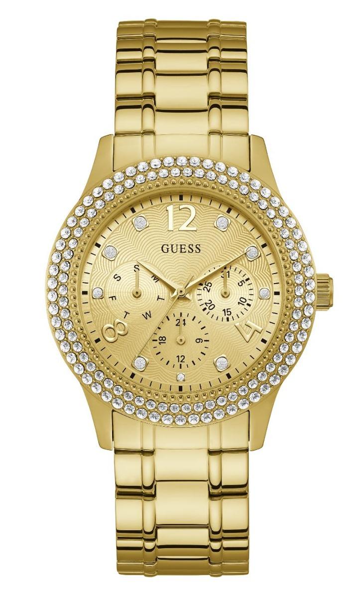 e1c6d854eb0 Relógio Feminino Guess Dourado Multifunção 92690lpgsda2 - R  793
