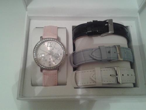 relógio feminino guess com 4 pulseiras