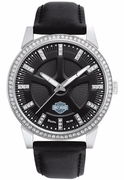 64e15972832 Relogio Feminino Harley-davidson Bulova Swarovski Crystal - R  650 ...
