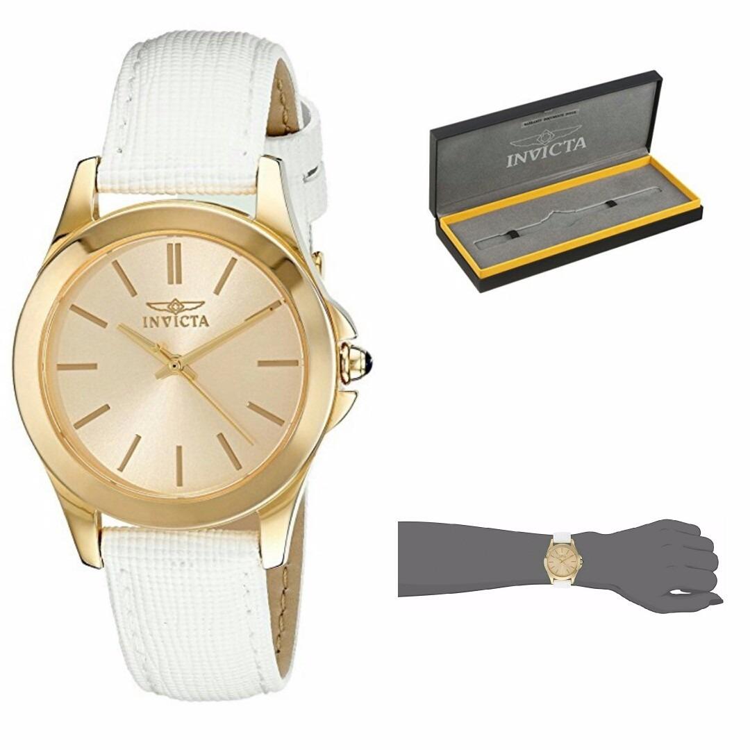 0650c6ef92f relógio feminino invicta angel 15149 banhado a ouro 18k. Carregando zoom.